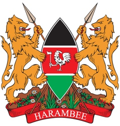 Kenya Coat-of-arms vector