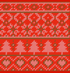 knitted christmas background seamless pattern vector image