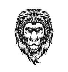 lion single head for tattoo ideas vector image