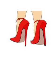 Long Heels vector image