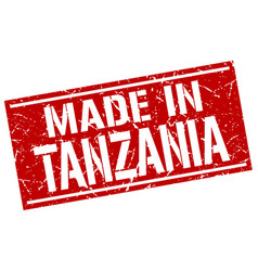 made in tanzania stamp vector image vector image