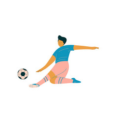 male soccer player footballer character in sports vector image