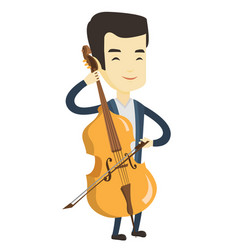 Man playing cello vector