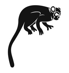 Marmoset monkey icon simple style vector