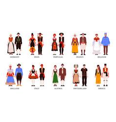 national european clothes set vector image