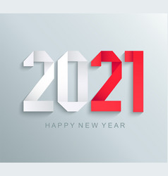 new 2021 year greeting cardpaper numbers vector image