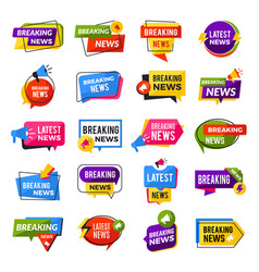 News announce advertising breaking special offers vector
