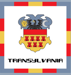 Official government ensigns of transylvania vector