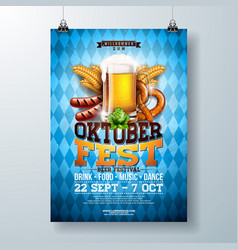 Oktoberfest party poster with fresh vector