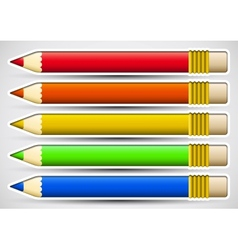 Pack of colorful pencils with white frame vector