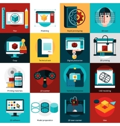 Prototyping And Modeling Icons vector