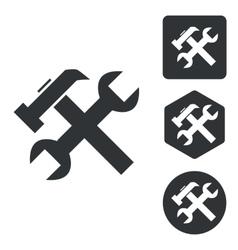 Repairs icon set monochrome vector image
