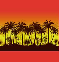 Seamless landscape palms vector