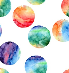 Seamless pattern of watercolor circles vector