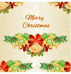 seamless texture christmas and new year christmas vector image