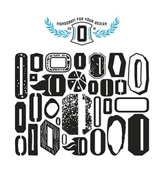 Set of monograms and initial letter o vector