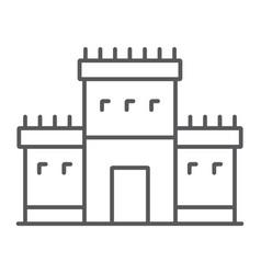 Solomon temple in jerusalem thin line icon vector