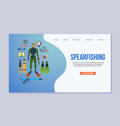spearfishing and diving vector image