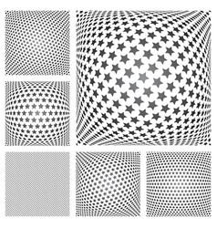 stars patterns set vector image