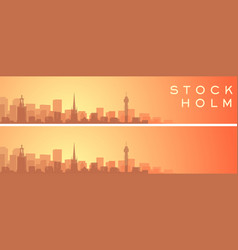 Stockholm beautiful skyline scenery banner vector