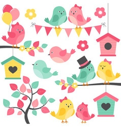 Summer Birds vector image