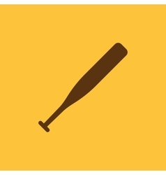 The baseball icon game symbol flat vector