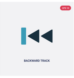Two color backward track icon from user interface vector