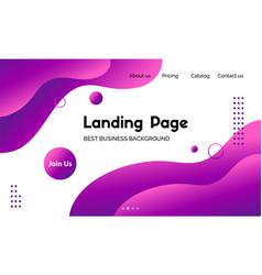 violet liquid landing page template vector image