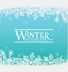 Winter snowflake blue background image vector