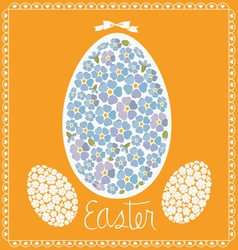 easter card egg from forget-me-nots vector image