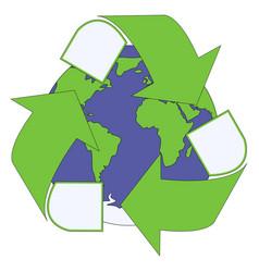 green triangular eco vector image