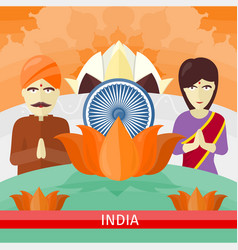 india travelling banner indian landmarks vector image vector image