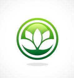 lotus flower spa icon logo vector image vector image
