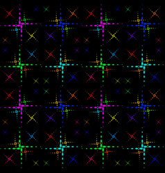 pattern of the color crosses vector image vector image