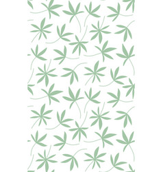 Seamless pattern made of palm leaves vector