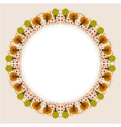 decorative circular autumn ornament vector image vector image