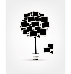 Family tree design insert your photos into frames vector image vector image