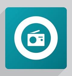 flat radio icon vector image vector image