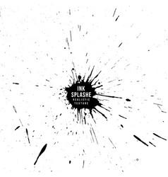 ink paint splatter texture vector image vector image