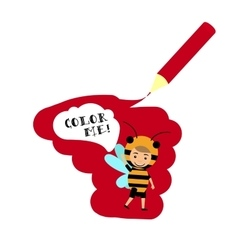 Kid in bee insect dress vector image