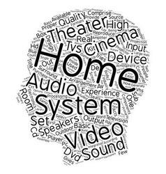 The Inside And Out Of A Home Theater text vector image vector image