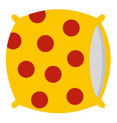 yellow pillow with red dots icon isolated vector image