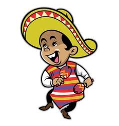 Mexican boy mascot vector image