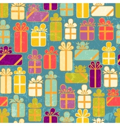 Seamless pattern with colorful gifts vector image vector image