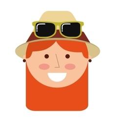 tourist man traveler icon vector image