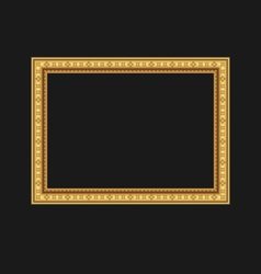 vintage picture frame isolated on black background vector image vector image