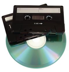AudioCasetteCD vector image