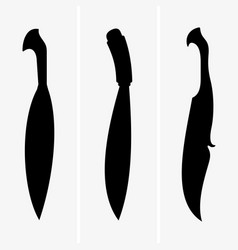barong knife vector image