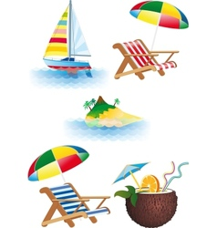 bright recreation set vector image vector image