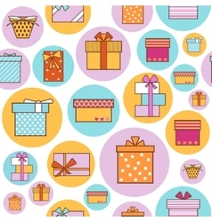 Colorful Gift Boxes Background Pattern vector image